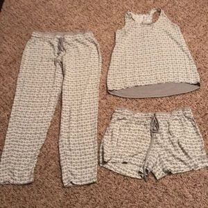 3 piece sleepwear set by Gilligan & O'Malley
